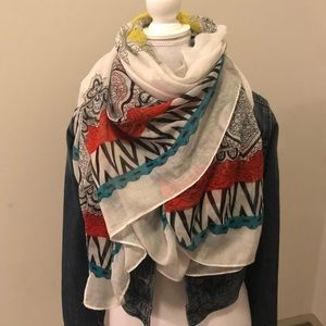 Colorful oversized blanket scarf